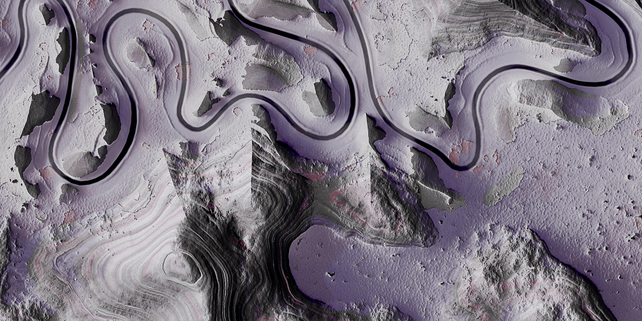 Meandering River detail01